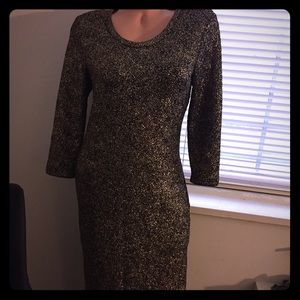 NWT Forever 21+ gold sparkle dress size xl